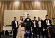 Music team at Dita & Reza wedding reception by Wijaya Music Entertainment