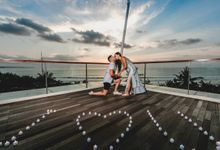 Chris & Jade Proposal Dinner by Sheraton Bali Kuta Resort