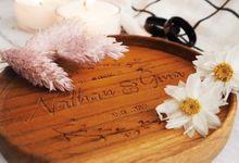 Ginka Wedding - souvenir suvenir custom pernikahan tatakan gelas event by Mendekor