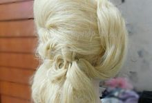 Example some hairdo wedding  by nopnop_mua