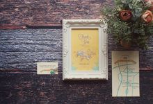 Yellow gives a touch of whimsical to classic by The Paper & Ink