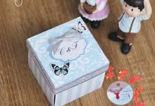 Elegant Baby Blue Exploding Box (2layer) by Cora Craft