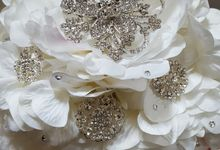 Something New Something Blue by Rita's Bejeweled Bridal Bouquets