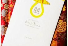 Oriental Style In White And Yellow Colours by Levellove Card