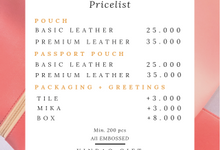 Pricelist Table by Yinbao