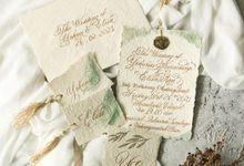 Yohan Elisa Bespoke Wedding Invitation Set by Calligraphy By Mercia