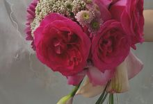 Pink Collection Bridal Bouquet by Amaryllis Floral Art