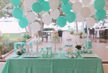 Tiffany wedding dessert table by Yoyosummer
