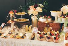 Wedding dessert table at botanical  by Yoyosummer