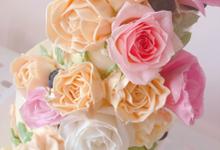 Buttercream flower cake rustic garden style by Yoyosummer