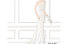 Bridal Illustrations by Draw A Story