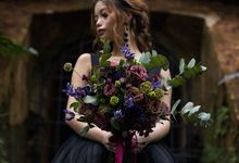 Black Romantic Bohemian Modern Chic Bridal Style Shoot - Danny and Daphne by Sylvia Koh Makeup and Hairstyling