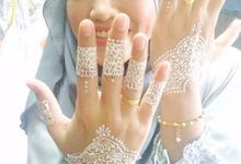 Henna Doodle For Fyza Rahman (White Henna) by Henna Doodle By Hajar