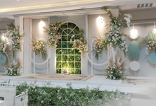 Mint and Green Wedding Reception by Kalea Design