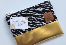 Rezka & Adit monochrome with gold series pouches by ZEITGEIST
