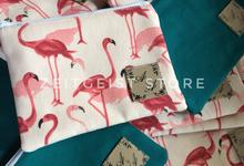 Tosca & Flamingo Pouches for Anna & Aan ~ Jakarta by ZEITGEIST