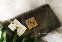 Sintia & Shandy canvas pouch with lace wrap  by ZEITGEIST
