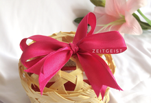 Mini bamboo wrap with ribbon by ZEITGEIST