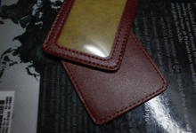 ID card Tag Holder PU Leather by Zilia Leather
