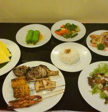 BBQ Dinner menu by Pat-Mase Villas at Jimbaran