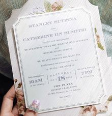 Stanley & Catherine - silver in purple by Pensée invitation & stationery