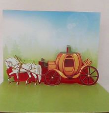 Royal Carriage Pop Up Invitation by Pop Up Occasions