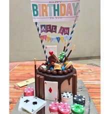 Poker Themed Birthday Cake by Rustic Kitchen Bakery