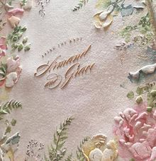 Rainbow botanical garden and glass house theme by Pensée invitation & stationery