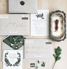 Rustic Botanical Wedding by Veronica Halim Calligraphy