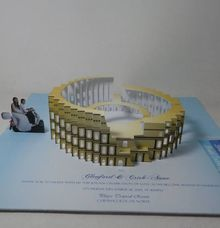 Italy Coliseum Three-dimensional Pop Up Invitation by Pop Up Occasions