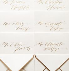 Wedding Project by Veronica Halim Calligraphy