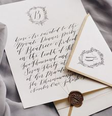 Private dinner invitation by Veronica Halim Calligraphy