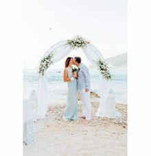 A&T Agios Nikitas beach wedding by Lefkas Weddings