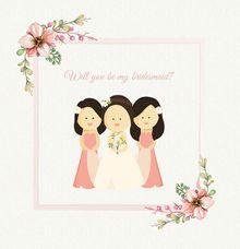 Bridesmaid Card by artbyevelynlim