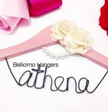 Bellicimo Hangers Name for Wedding Favors by Béllicimo Personalized Hanger & Favors