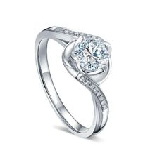 TIARIA Flower and Twig Diamond Engagement Ring Cincin Tunangan Berlian by TIARIA