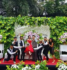 Jane & Wendy engagement party at Green Forest Resort Bandung by Gio Music Entertainment