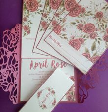 Roses Gatefold Invitation by Ribbons and Prints