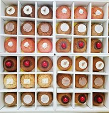 A box of 12 Choux by The Custard Inc