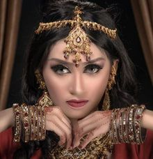 Indian Bride by SHABEASY MUA & WO