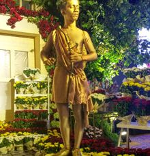 Golden Cupid Living Statue by Hehe Living Statue