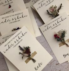 Dried Florals Table Placecards by The Jomu Co