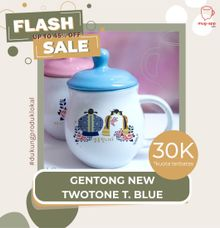 FLASH SALE MUG GENTONG NEW TWOTONE TURKISH BLUE WEDDING SOUVENIR by Mug-App Wedding Souvenir