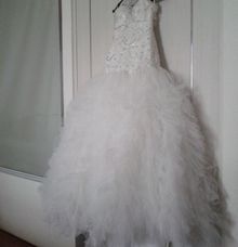 Simple Wedding Gown by costura bride and evening wear