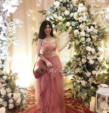 Couture Dusty Pink Gown by Anita Cynthia Couture