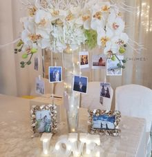 Customised Photo Centrepiece by Dorcas Floral