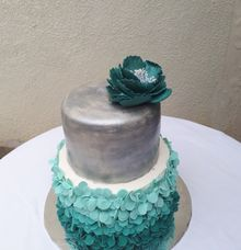 Turquis And Silver...  by Sugaria cake