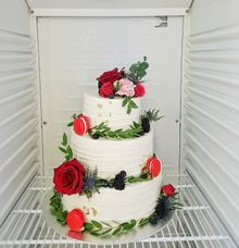 3 Tier Flora Cake by LÉLE Bakery