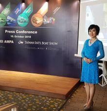Press Conference AMPA & Boat Show by MC Mandarin Linda Lin