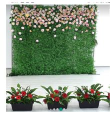 Customised floral wall for rental by Prettyflowers@teo